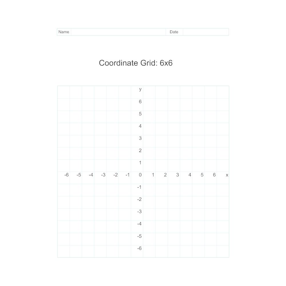 Example Image: Coordinate Grid - 6x6