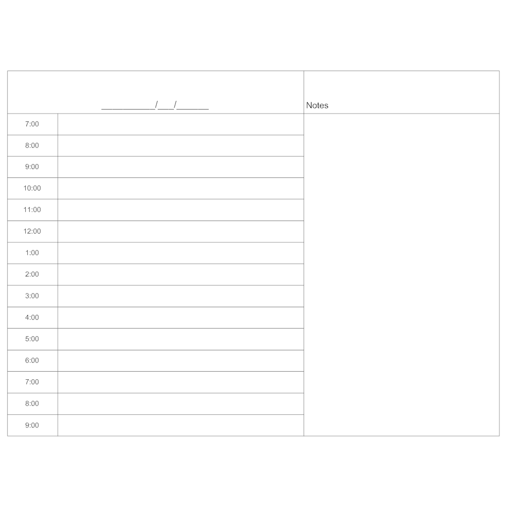 Example Image: Daily Scheduler