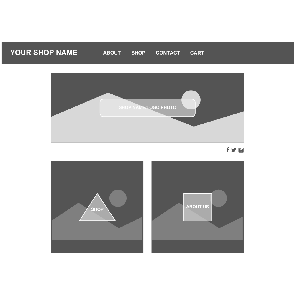 Example Image: Home Page Wireframe