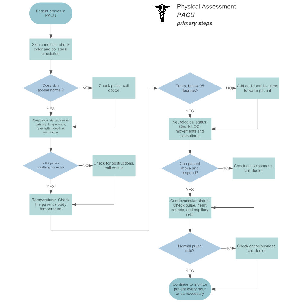 Example Image: Physical Assesment Flowchart