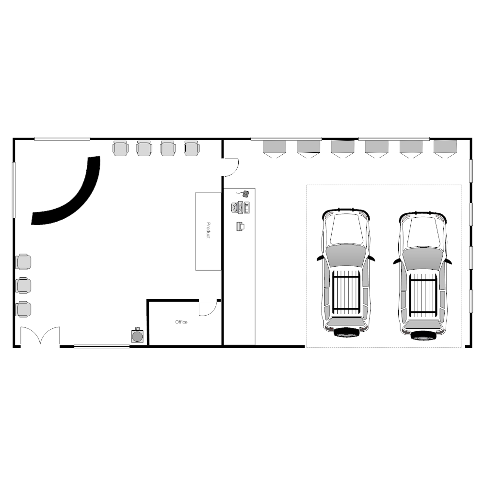 Auto Repair Shop Layout on Office Cubicle Layout Templates