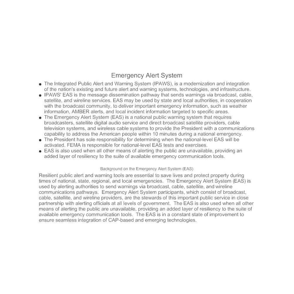 Example Image: Emergency Alert System (EAS)