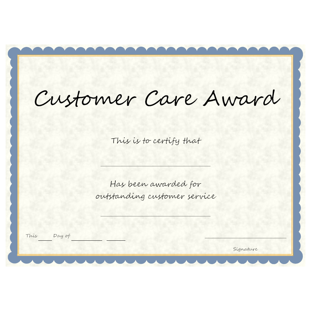 Example Image: Customer Care Award