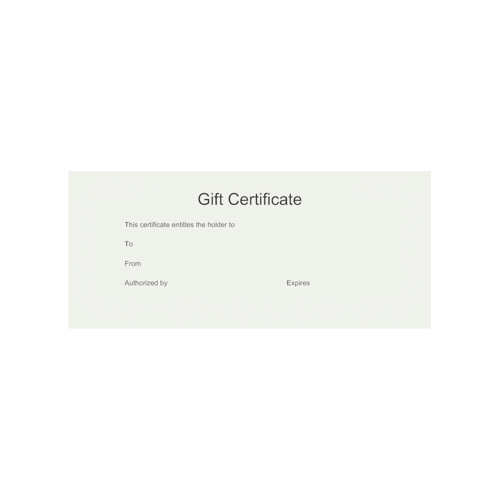 Example Image: Gift Certificate Template 8