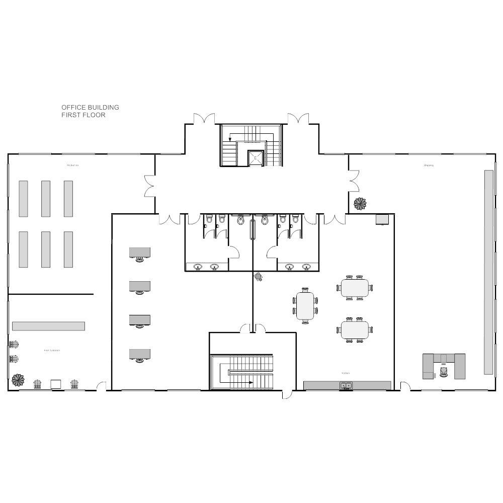 Office building plan Edit floor plans online