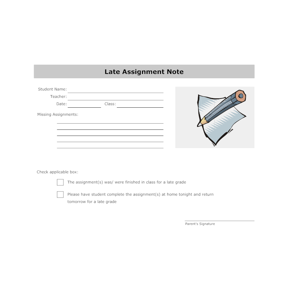 Example Image: Late Assignment Note