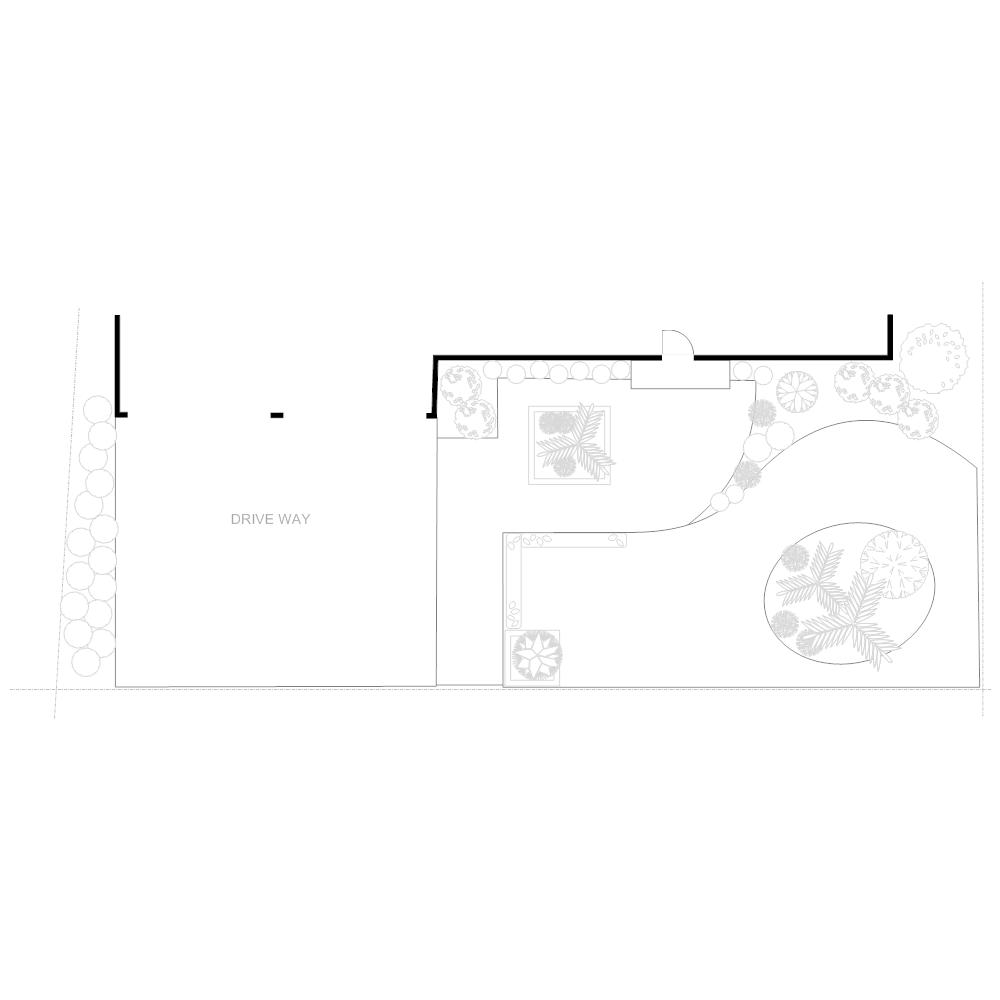 Example Image: Irrigation Plan - Front Yard