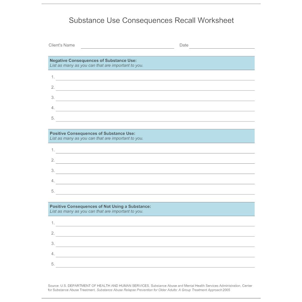 Cbt For Substance Abuse Worksheets Worksheets for all   Download ...