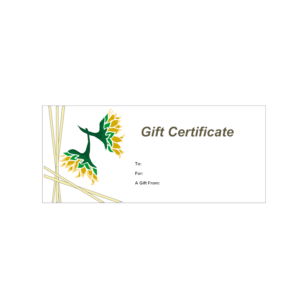 Example Image: Gift Certificate Template 12