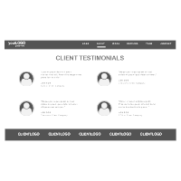 Website Testimonials Wireframe