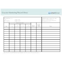 Glucose Monitoring Record Sheet