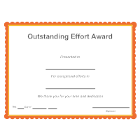 Outstanding Effort Award