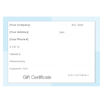 Gift Certificate Template 4