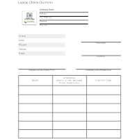 laptop checkout form template