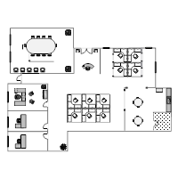 Office floor plan templates for Office space planner online