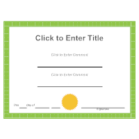 Certificate Example 2
