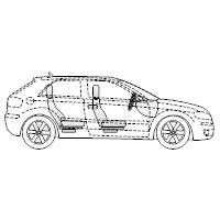 Vehicle Diagram - 2-Door Compact Car Side View
