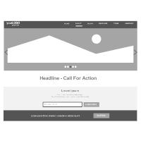 Home Page Hero and Navigation Wireframe