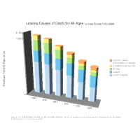 Leading Causes of Death for All Ages Bar Graph