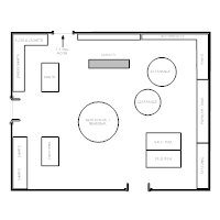 Store layout examples for Clothing store floor plan layout