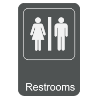 Restrooms Sign