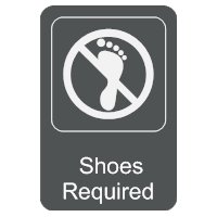 Shoes Required Sign