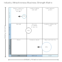 Industry Attractiveness-Business Strength Matrix