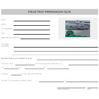 Field Trip Permission Form