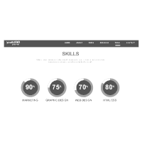 Personal Portfolio Site: Skills Wireframe
