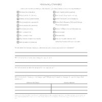 Recovery Checklist