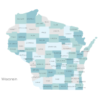 Wisconsin Counties Map