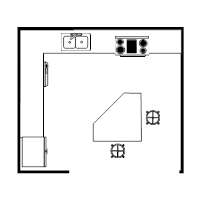 Island Kitchen Plan