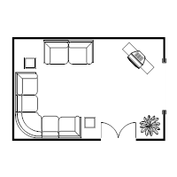 Floor plan examples for Room design layout templates