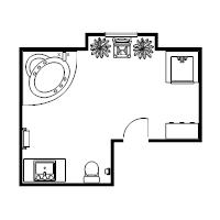Floor plan examples for Bathroom floor plan template