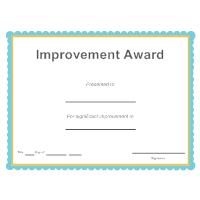Improvement Award