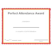 Perfect Attendance Award