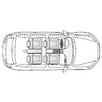 4-Door Compact Car - 1 (Elevation View)