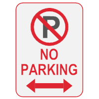 Sign templates for No parking signs template