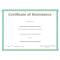 Certificate of Attendance