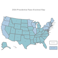 Presidential Electoral Map (2004)