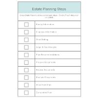 Estate Planning Steps