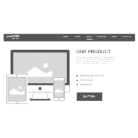 Website Product Page Wireframe
