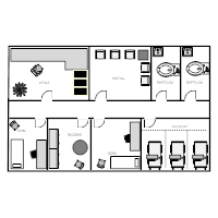 Floor plan examples for Floor plans health care facilities
