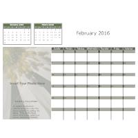 Flower Monthly Calendar