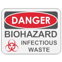 Biohazard Infectious Waste Sign