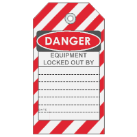 Equipment Lockout Tag