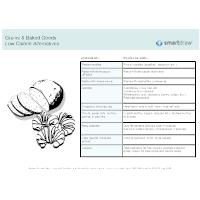 Low Calorie Alternatives - Grains