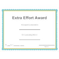 Extra Effort Award