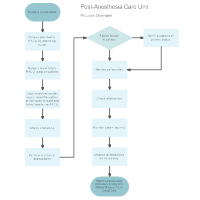 Post-Anesthesia Care Unit Flowchart