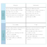 Product Marketing - SWOT Analysis